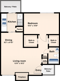 1 Bed / 1 Bath / 750 ft² / Availability: Please Call / Deposit: $300